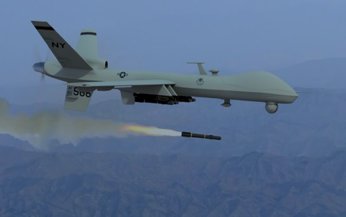 Predator Drone Used For Crowd Control